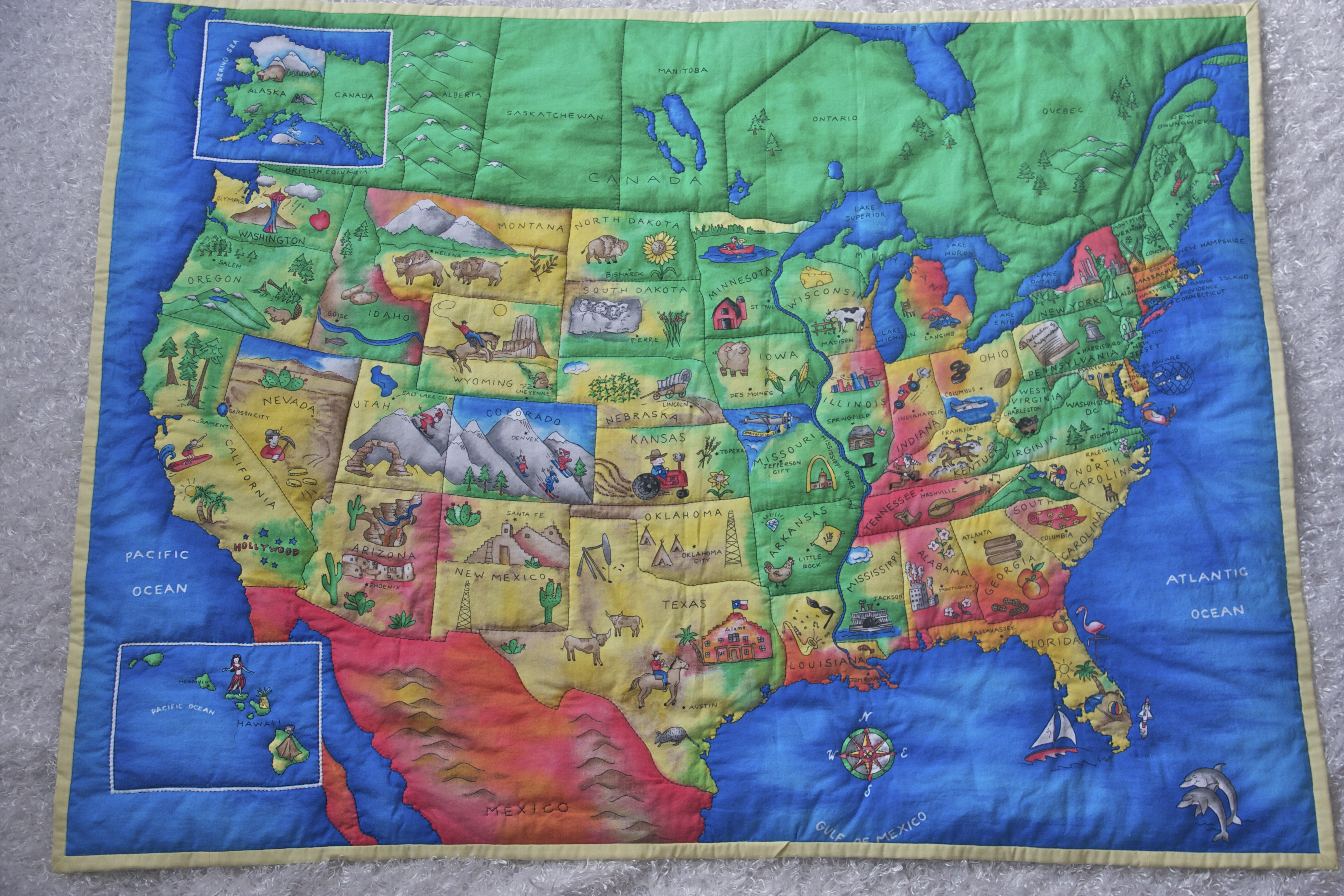 Usa Map Quilt Sewing Projects Burdastyle Com