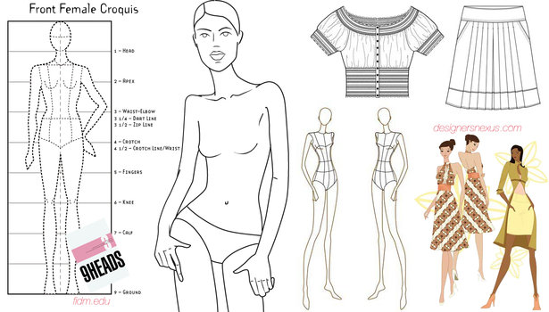 photo relating to Printable Fashion Croquis referred to as Can by yourself attract very well? Sewing Web site