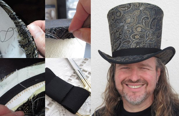 Katie Vardijan on: Millinery 101: Making a Top Hat, Part 2 – Sewing ...
