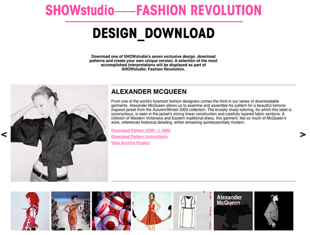 Free Designer Patterns from ShowStudio – Sewing Blog | BurdaStyle.com