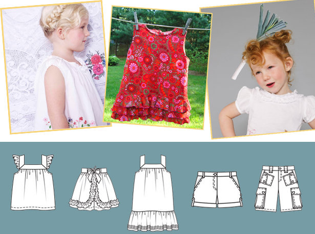 Flower Children Lovely New Sewing Patterns For Kids Sewing Blog