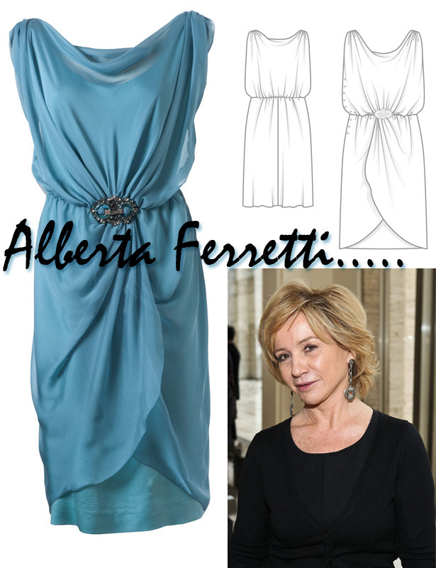 Designer Pattern: Alberta Ferretti Dress – Sewing Blog | BurdaStyle.com