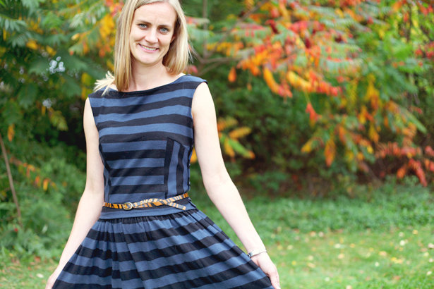 The Making Of A Striped Swing Dress Sewing Blog Burdastyle
