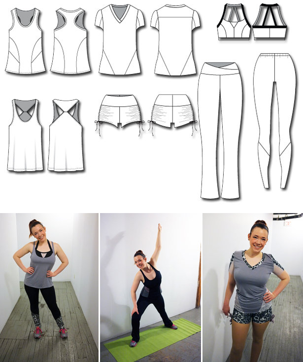 Make Your Own 7 Piece Workout Wear Collection! – Sewing Blog ...