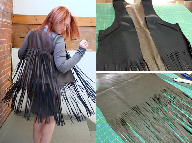Wear It With Fringe My Finished Fringed Vest Sewing