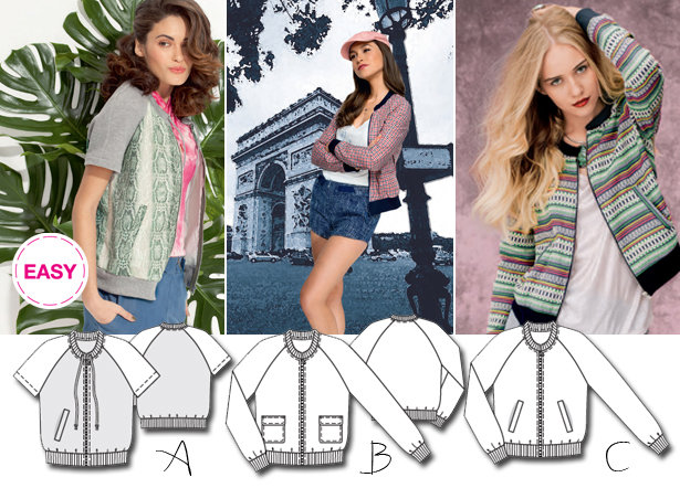 New BurdaEasy Pattern: Zip Up Blouson Jackets! – Sewing Blog ...
