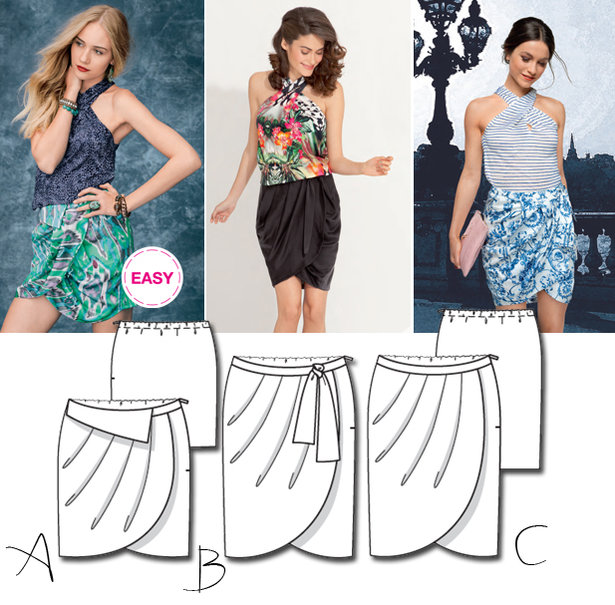 New BurdaEasy Pattern: Pleated Wrap Skirts! – Sewing Blog ...