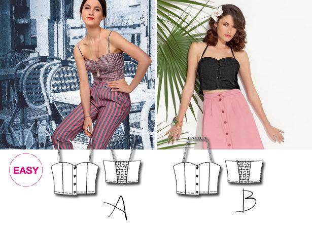 New BurdaEasy Sewing Pattern: Bustier Tops! – Sewing Blog ...