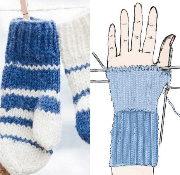 Easy Knit Mittens For Any Size Hands Sewing Blog Burdastyle