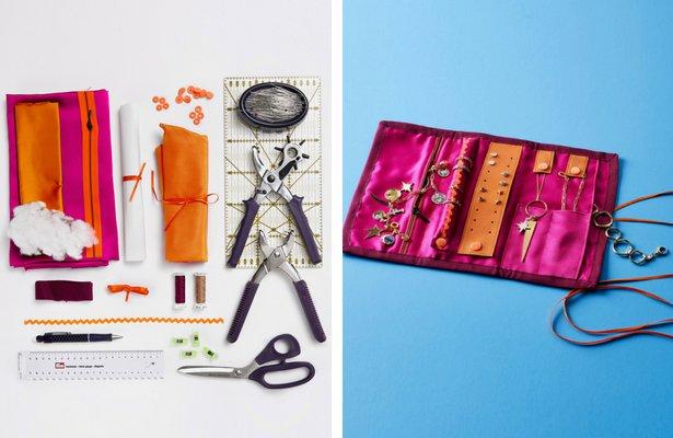 DIY Travel Jewelry Organizer Sewing Blog BurdaStylecom
