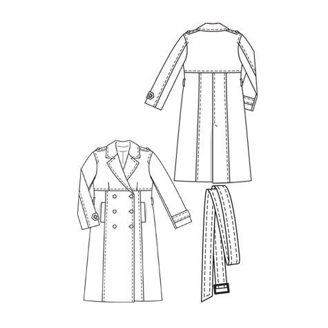 Burda Style Magazine Swing Trench Coat 022010 133 Sewing