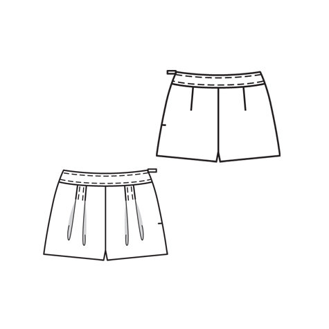 Shorts with Wide Waistband 5/2010 #136 – Sewing Patterns ...