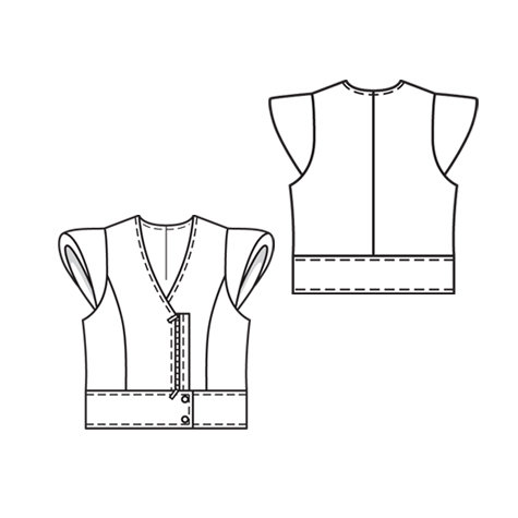 Leather Vest with Cap Sleeves 4/2010 #137 – Sewing Patterns ...