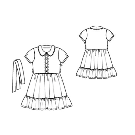Girls Dress With Hem Frill 62010 145 Sewing Patterns