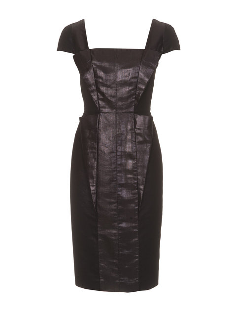 Cap Sleeve Cocktail Dress with Metallic Insets 11/2011 #125 – Sewing ...