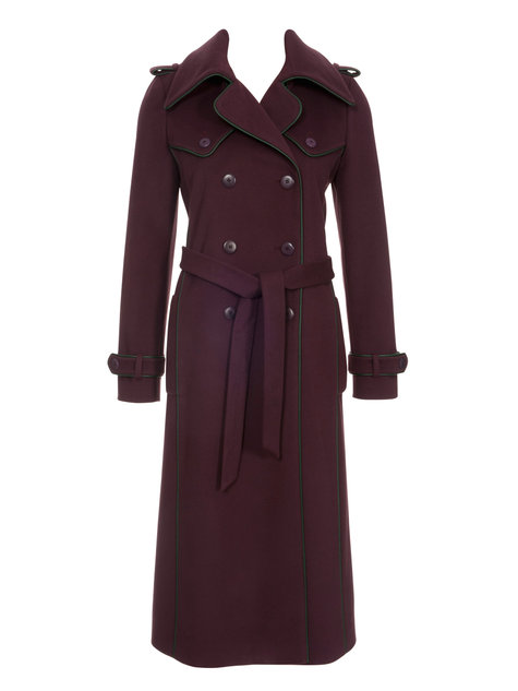 Piped Trench Coat 112012 118 Sewing Patterns Burdastyle