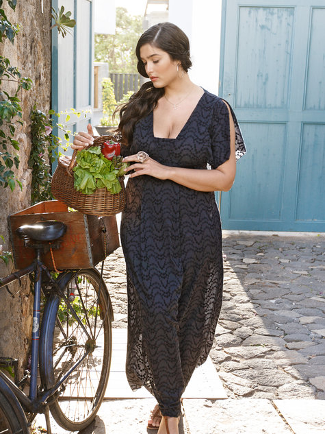 Maxi-Dress (Plus Size) 04/2013 #133B – Sewing Patterns | BurdaStyle.com