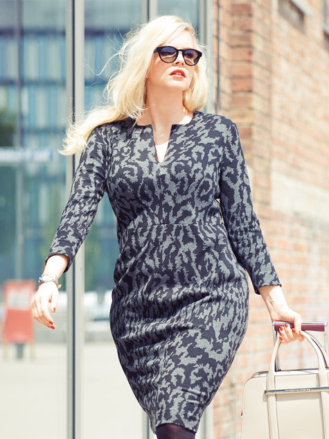 Animal Print Dress (Plus Size) 11/2013 #133B – Sewing Patterns ...