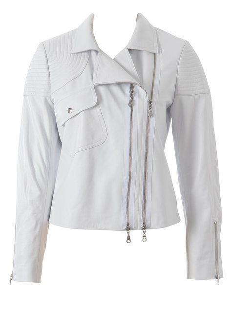 White Biker Jacket 012014 117 Sewing Patterns Burdastyle