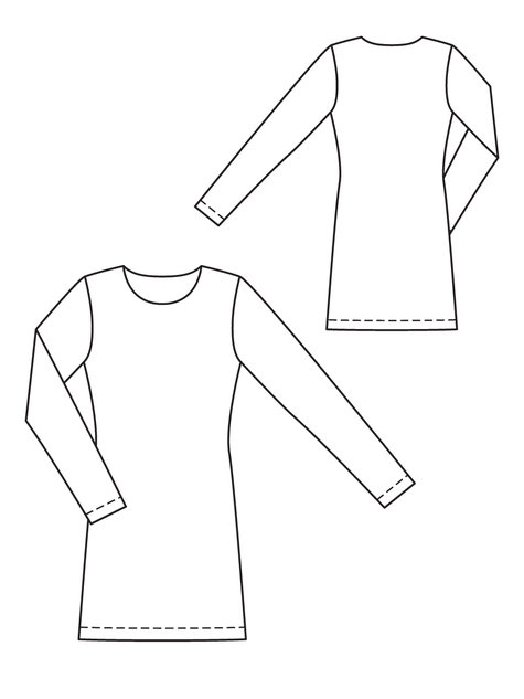 Knit Top And Dress Sloper Sewing Patterns Burdastyle