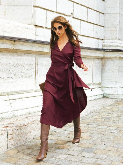 Wrap Dress with Sash 10/2011 #123A – Sewing Patterns | BurdaStyle.com
