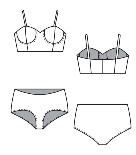 Stretch Bra and Panty Set – Sewing Patterns | BurdaStyle.com