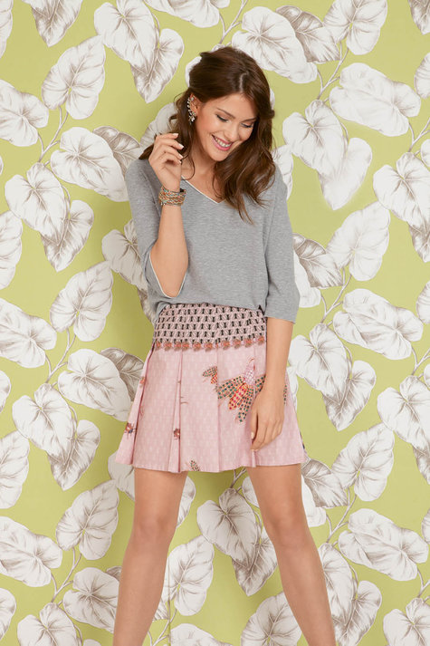 Pleated Mini Skirt 042015 117a Sewing Patterns Burdastyle
