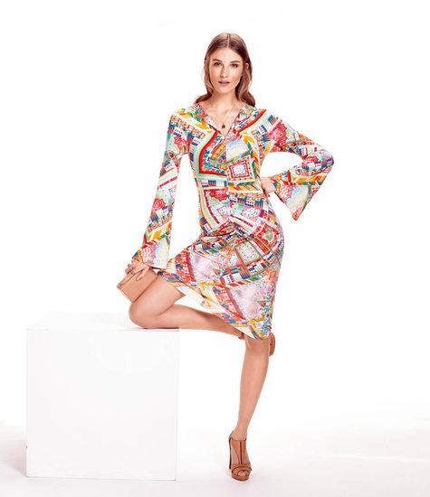 Bell Sleeve Dress 4040 40 Sewing Patterns BurdaStyle Awesome Bell Sleeve Dress Pattern
