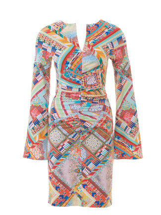 Bell Sleeve Dress 4040 40 Sewing Patterns BurdaStyle Cool Bell Sleeve Dress Pattern