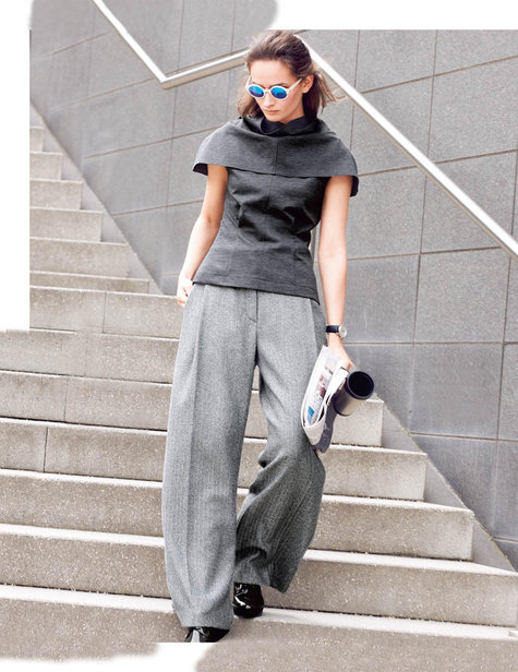 Grey Wide Leg Trousers 10/2015 #105C – Sewing Patterns | BurdaStyle.com