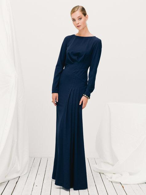 Long Sleeve Maxi Dress 12/2015 #110B – Sewing Patterns | BurdaStyle.com