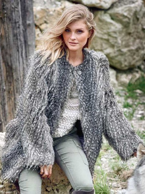 Faux Fur Coat 012016 122 Sewing Patterns Burdastyle