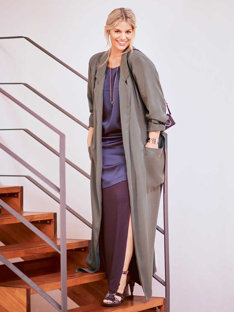 Floor Length Trench Coat Plus Size 02 2016 128b