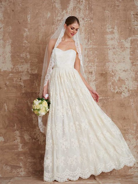 Lace Wedding Dress 03/2016 #129 – Sewing Patterns | BurdaStyle.com