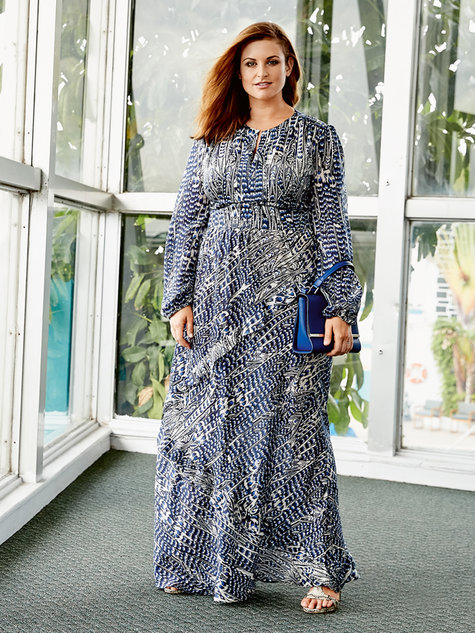 95582170685db Long Sleeve Maxi Dress (Plus Size) 04 2016  125 – Sewing Patterns ...