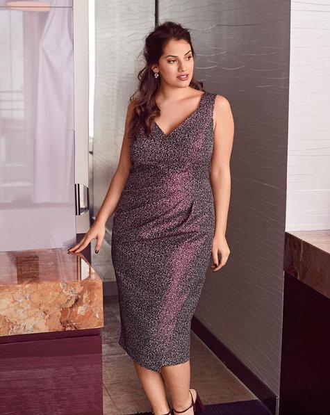 Pleated Sheath Dress Plus Size 072017 124b Sewing Patterns