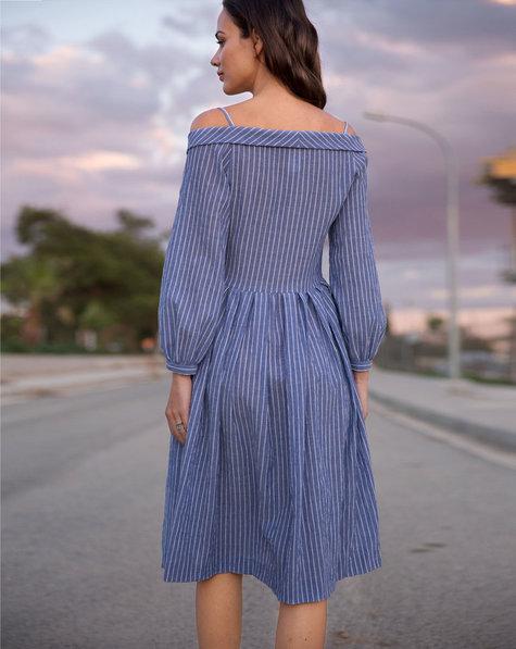 Off-The-Shoulder Shirt Dress 05/2018 #109 – Sewing Patterns