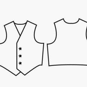 photo about Printable Vest Pattern known as 127053 Sewing Practices