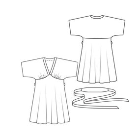 how to draw kimono pattern