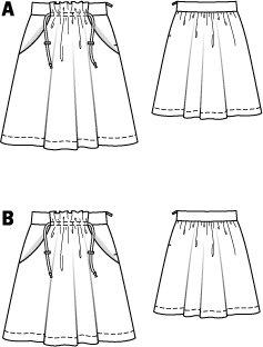 Drawstring Band Skirt 5/2010 #122A