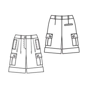 Bermuda Shorts with Pocket Details 5/2010 #134