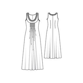 Jeweled Neckline Maxi Dress 06/2010 #101