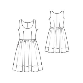 Tank Dress with Gathered Skirt 02/2011 #104