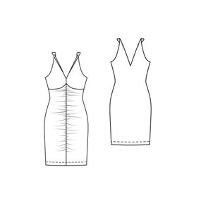 jersey body con dress 5 2011 107c sewing patterns burdastyle com
