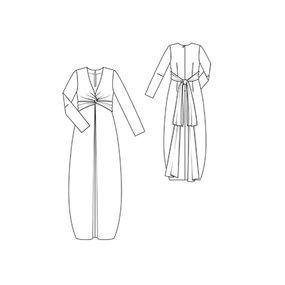long sleeve maxi dress 12 2011 120 sewing patterns burdastyle com