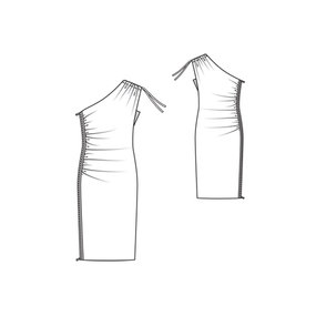01/2011 One shoulder dress with side zipper #110A