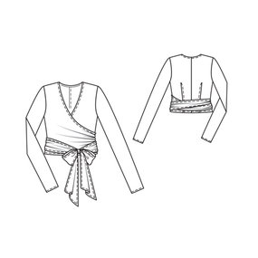 Long Sleeve Wrap Blouse 01/2012 #116C