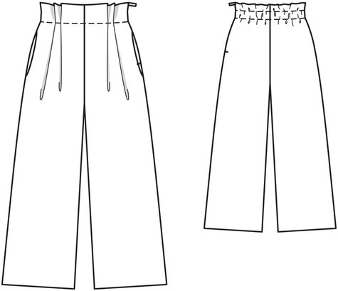 Wide Legged Pants 02/2012 #114 – Sewing Patterns | BurdaStyle.com