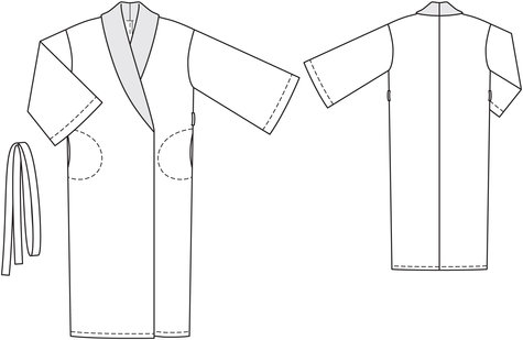 Silk Robe 02/2012 #106 – Sewing Patterns | BurdaStyle.com