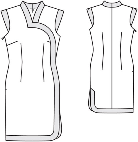 Cheongsam Dress 022012 111 Sewing Patterns Burdastyle